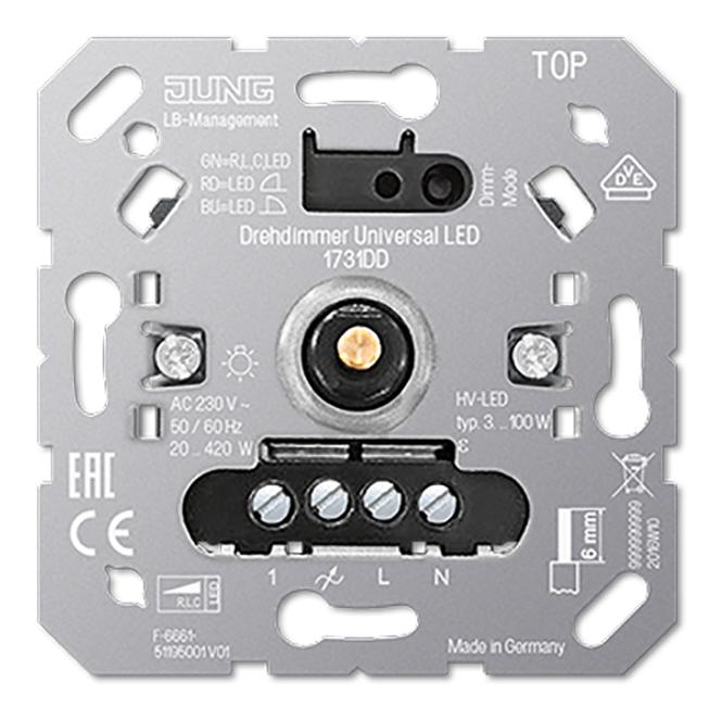 JUNG 1731 DD Drehdimmer Universal LED mit Inkrementalgeber online ...