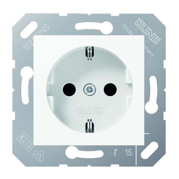 jung cd 5120 bf ww schuko steckdose f r klappdeckel. Black Bedroom Furniture Sets. Home Design Ideas