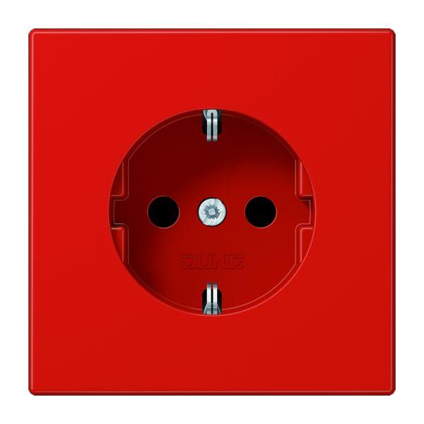 jung ls 1520 bf rt schuko steckdose 16 a 250 v rot online. Black Bedroom Furniture Sets. Home Design Ideas