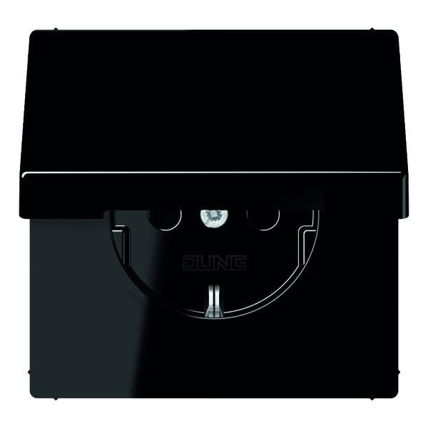 jung ls 1520 kikl sw schuko steckdose integrierter. Black Bedroom Furniture Sets. Home Design Ideas