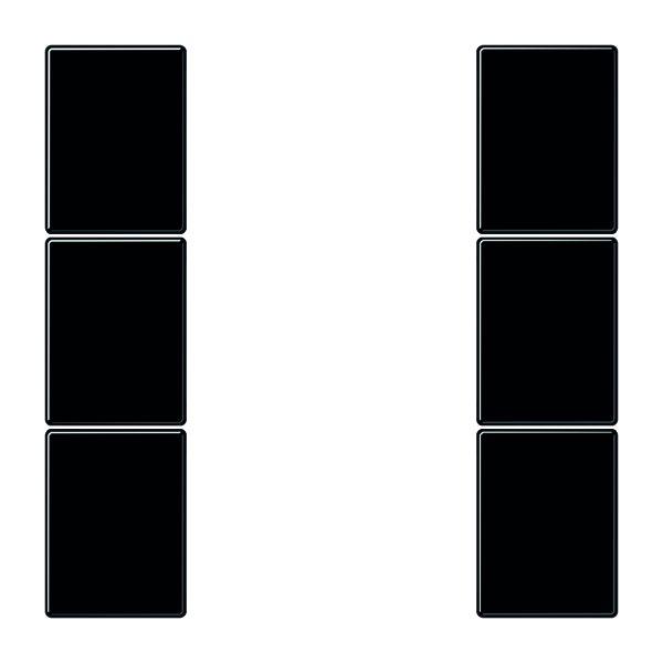 jung ls503tsasw tastensatz 3fach komplett schwarz online kaufen im voltus elektro shop. Black Bedroom Furniture Sets. Home Design Ideas