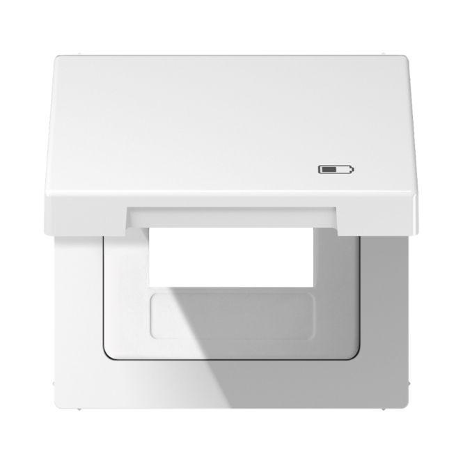 jung ls 990 bfkl usb ww klappdeckel mit symbol charger alpinwei online kaufen im voltus. Black Bedroom Furniture Sets. Home Design Ideas