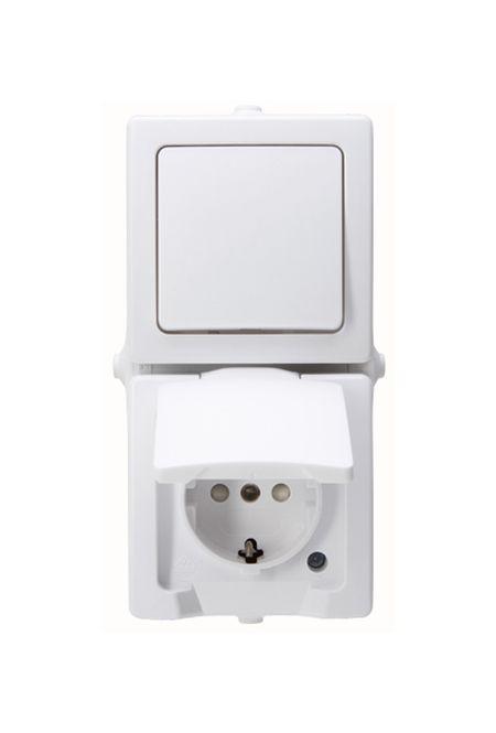 kopp 138502009 nautic kombination schalter schutzkontakt. Black Bedroom Furniture Sets. Home Design Ideas