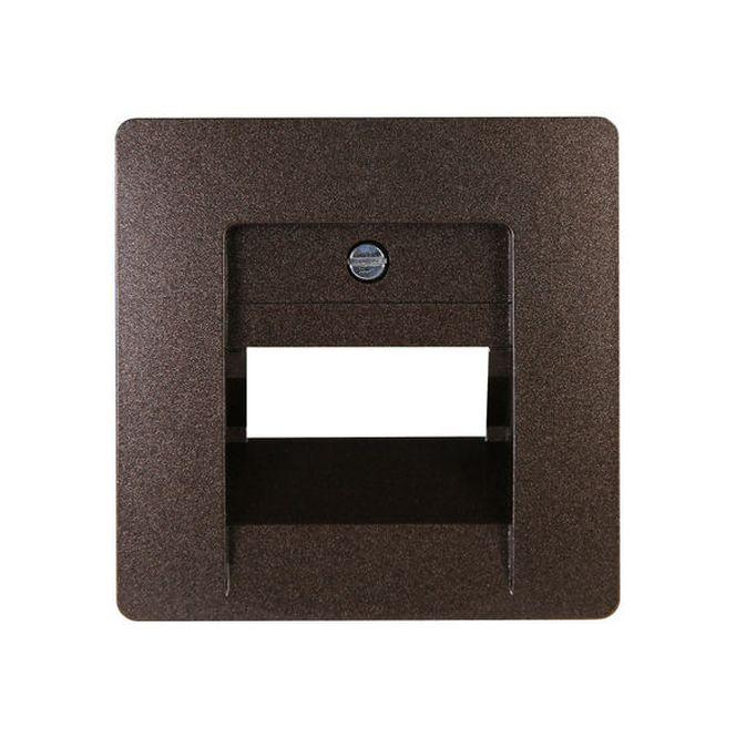 kopp 326126188 paris abdeckung f r uae anschlussdose palisanderbraun online kaufen im voltus. Black Bedroom Furniture Sets. Home Design Ideas