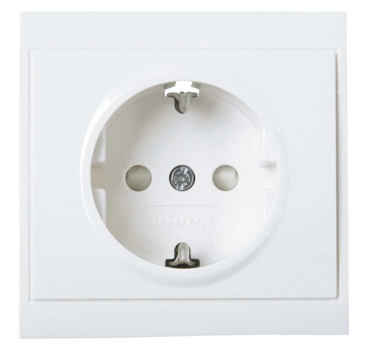 kopp 923413082 malta arktis wei schutzkontakt steckdose ohne deckel online kaufen im voltus. Black Bedroom Furniture Sets. Home Design Ideas