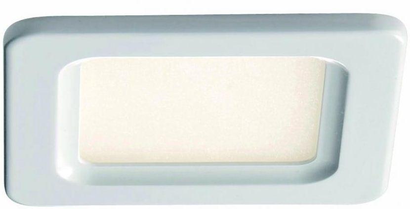 lichtideen l35280 led deckenpanel quadratisch aluminium kunstoff wei 1x 5 w online kaufen im. Black Bedroom Furniture Sets. Home Design Ideas