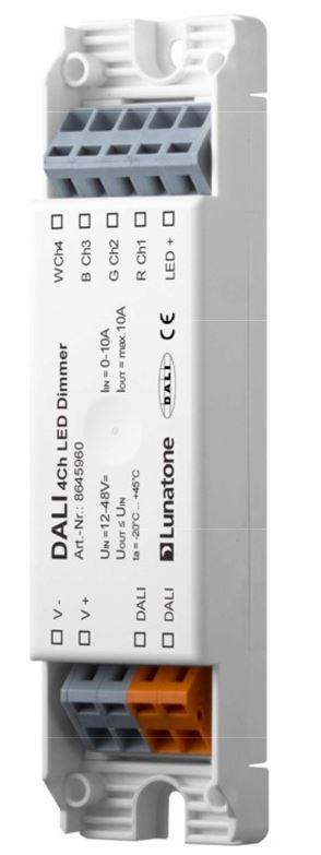 Lunatone 86459560 dali 4 kanal led dimmer cv 12vdc 24vdc for Koch 4 kanal led funkfernsteuerung