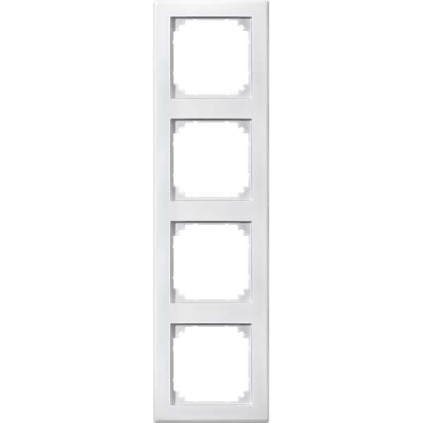 merten 462419 m smart rahmen 4fach polarweiss. Black Bedroom Furniture Sets. Home Design Ideas