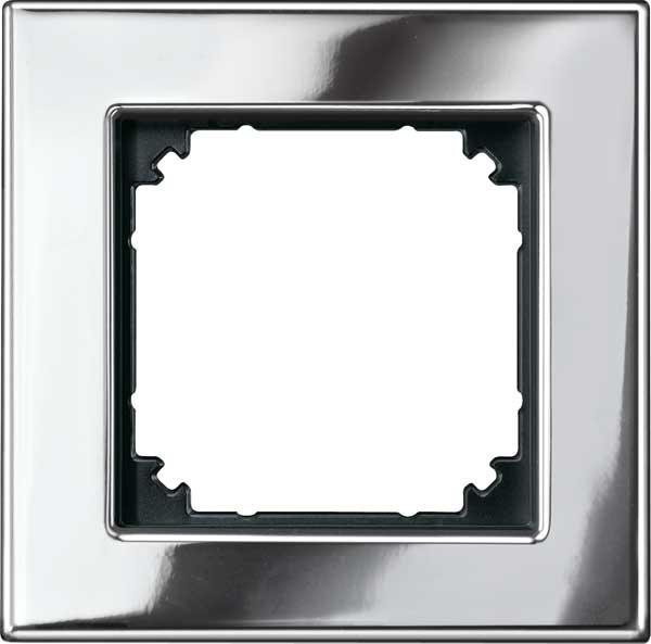 merten 475139 m plan metallrahmen chrom 1 fach online. Black Bedroom Furniture Sets. Home Design Ideas