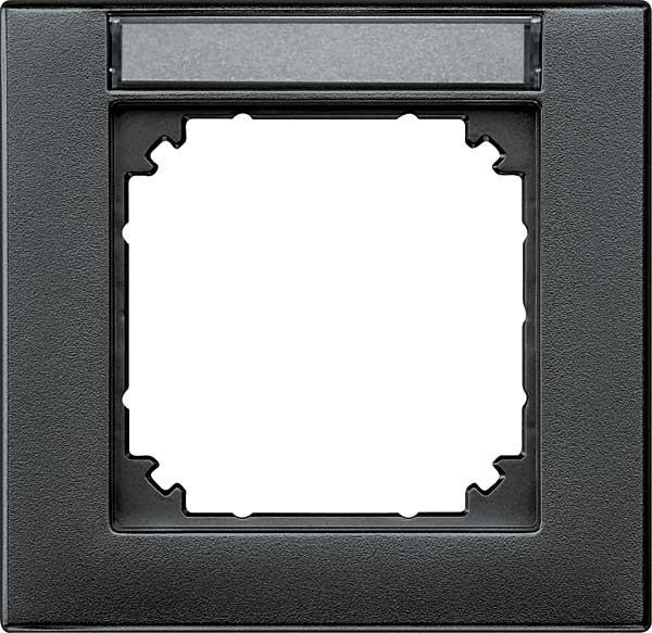 merten 476114 m plan rahmen beschriftbar anthrazit matt. Black Bedroom Furniture Sets. Home Design Ideas
