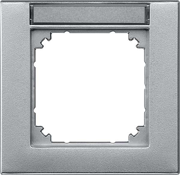 merten 476160 m plan rahmen beschriftbar aluminium matt. Black Bedroom Furniture Sets. Home Design Ideas