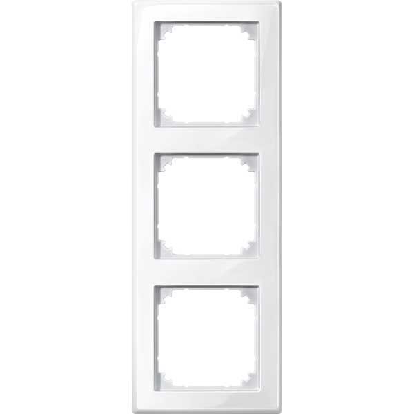merten 478319 m smart rahmen 3fach polarweiss gl nzend. Black Bedroom Furniture Sets. Home Design Ideas