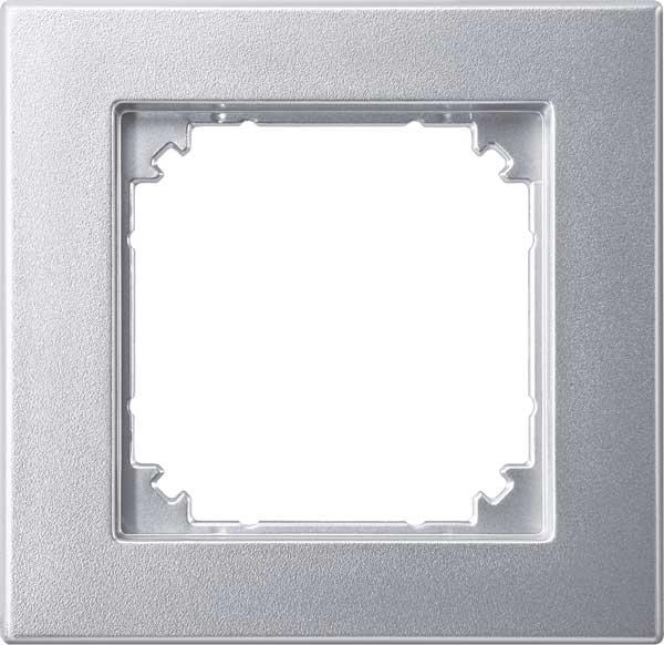 merten 488160 m plan ii rahmen 1fach b ndiger einbau aluminium matt online kaufen im voltus. Black Bedroom Furniture Sets. Home Design Ideas
