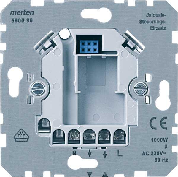 merten 580698 jalousiesteuerungs einsatz standard online. Black Bedroom Furniture Sets. Home Design Ideas
