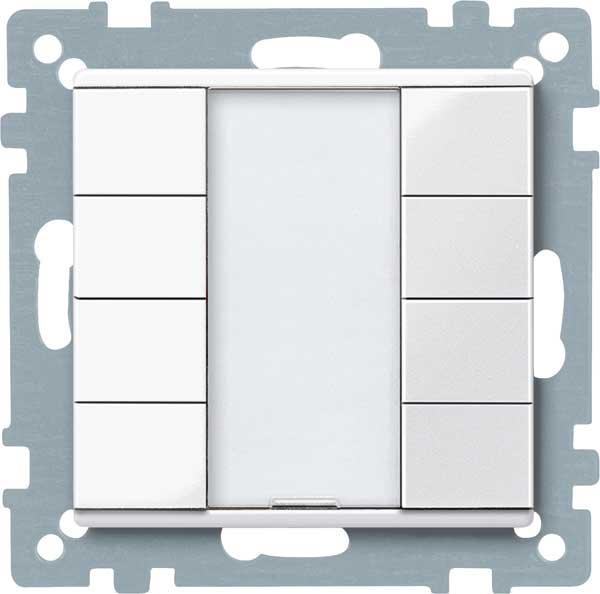 merten 617419 taster 4fach plus polarwei gl nzend online. Black Bedroom Furniture Sets. Home Design Ideas