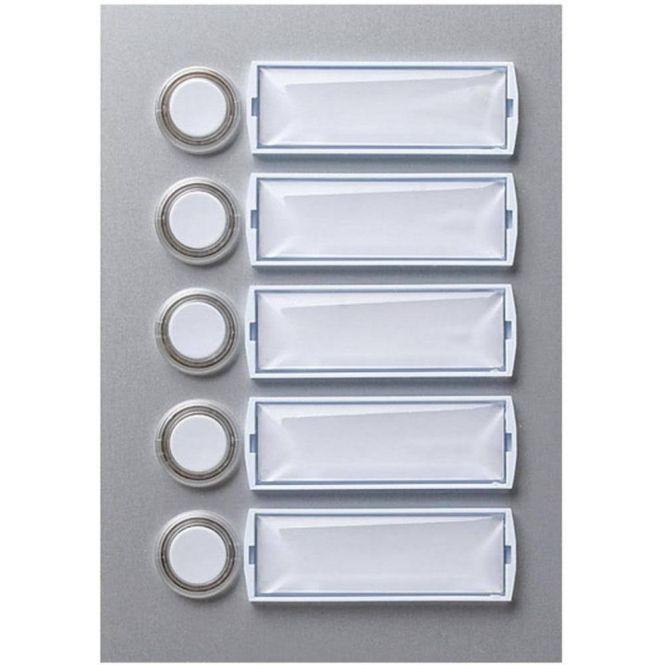honeywell e101 5 klingeltaster beleuchtbar aluminium silber eloxiert 5 fach online kaufen im. Black Bedroom Furniture Sets. Home Design Ideas