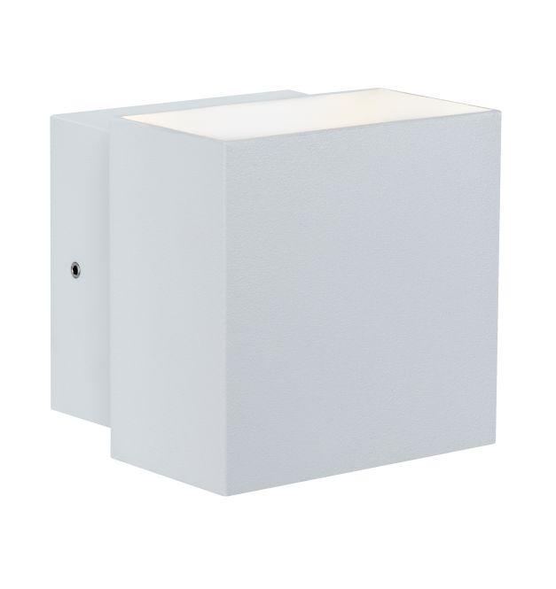 paulmann led wandaufbauleuchte cybo 2x3w ip65 230v 2700k warmwei eckig wei online. Black Bedroom Furniture Sets. Home Design Ideas