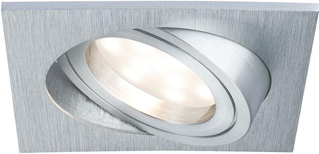 PAULMANN 928.00 LED Einbauleuchten Set Premium Coin, 1x6,8W,eckig ...