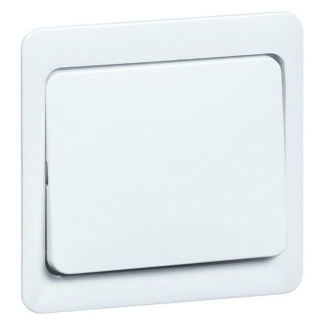 PEHA Standard Wippe mit Zentralplatte und Aufdruck 80.640 V HN w weiß