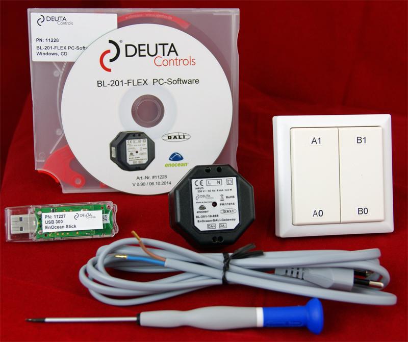 DEUTA Controls 11229 BL-201-FLEX Starter-Kit für EnOcean ...