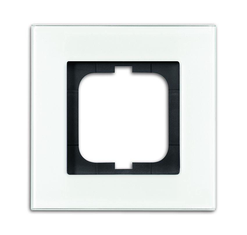 Top BUSCH-JAEGER 1721-811 carat Abdeckrahmen, weißglas 1-fach online QJ08