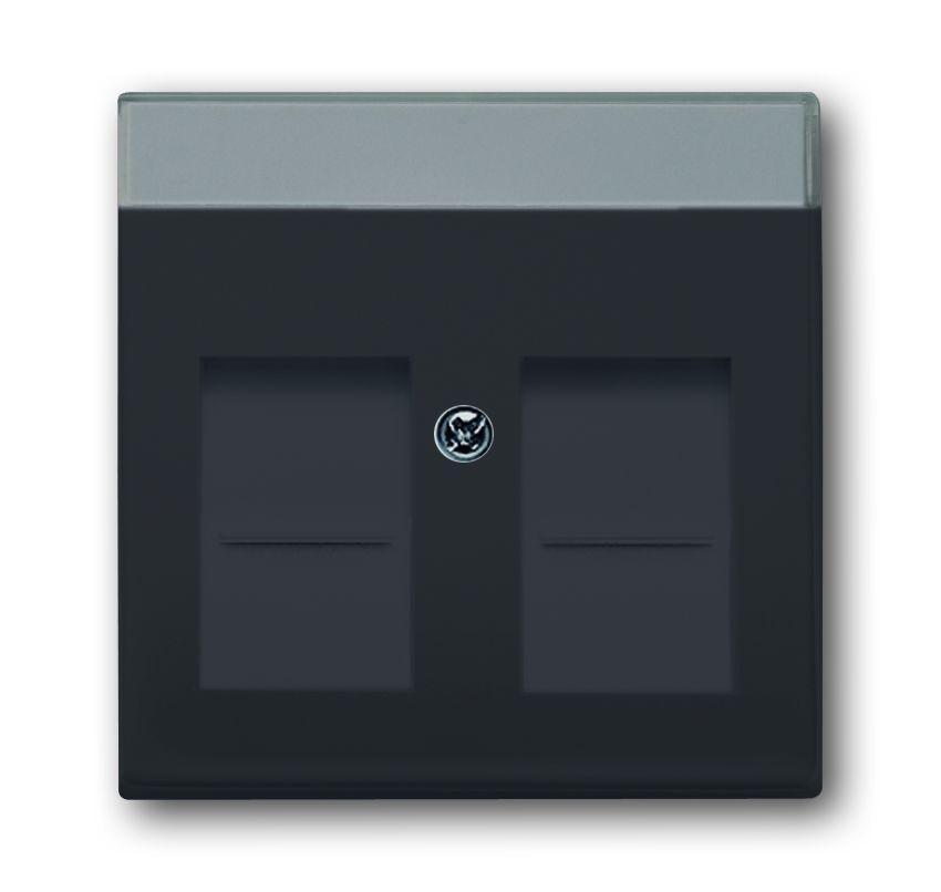 busch jaeger 1800 81 modular jack abdeckung anthrazit online kaufen im voltus elektro shop. Black Bedroom Furniture Sets. Home Design Ideas