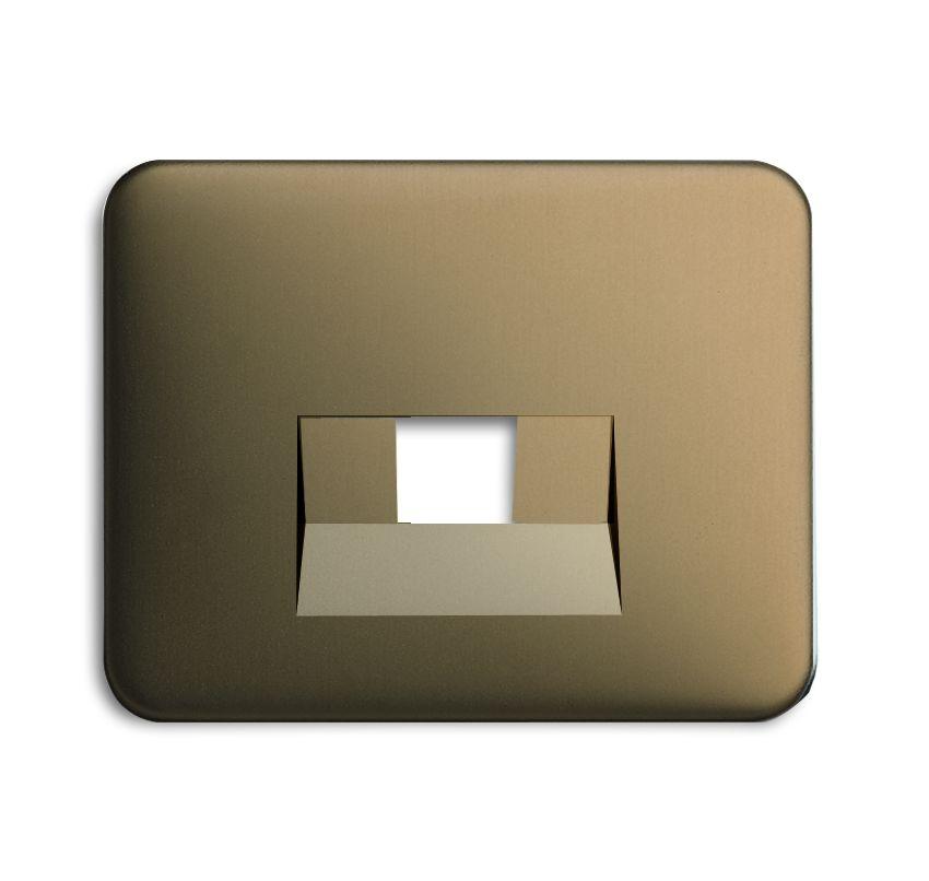 busch jaeger 1803 21 abdeckung f r isdn netzwerkdosen 1fach bronze online kaufen im voltus. Black Bedroom Furniture Sets. Home Design Ideas