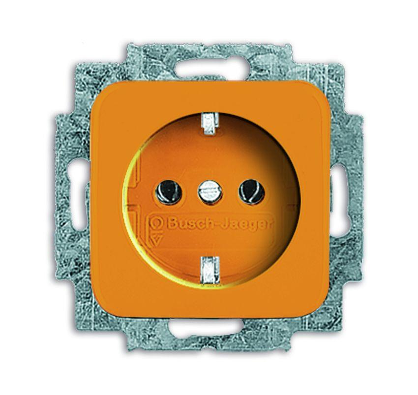 busch jaeger duro 2000 si 20 euc 14 212 steckdose einsatz zsv orange online kaufen im voltus. Black Bedroom Furniture Sets. Home Design Ideas