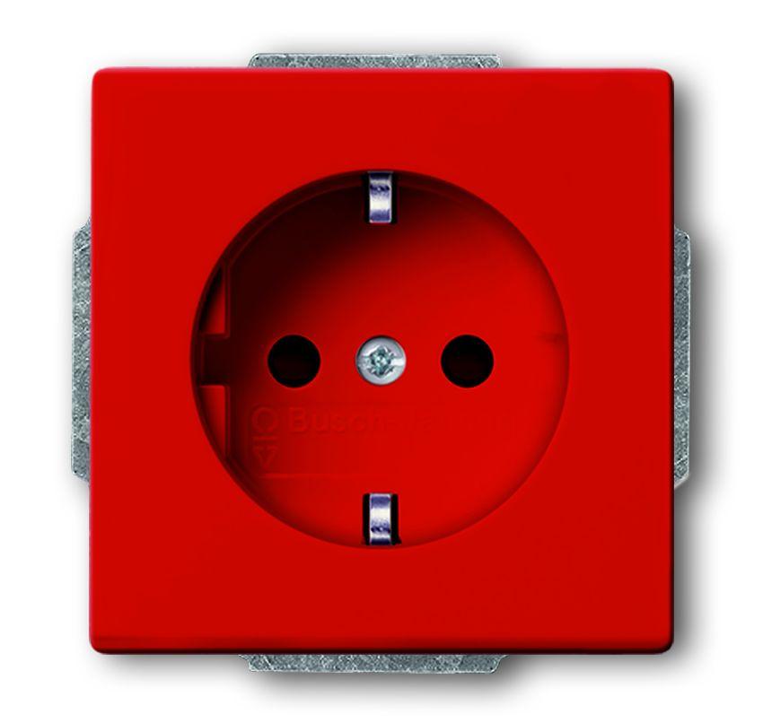 busch jaeger 20 eucks 12 82 schuko steckdosen einsatz mit kinderschutz rot online kaufen im. Black Bedroom Furniture Sets. Home Design Ideas
