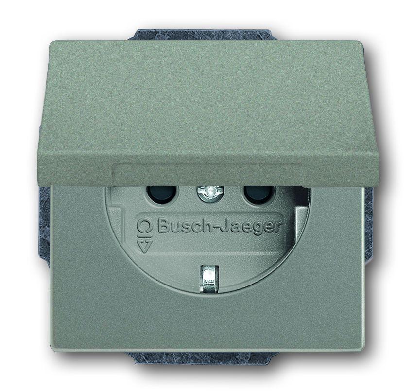 busch jaeger 20euk 803 schuko steckdosen einsatz mit. Black Bedroom Furniture Sets. Home Design Ideas
