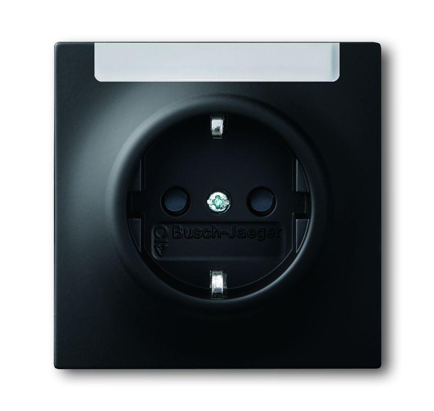 busch jaeger 20 eun 775 impuls schuko steckdosen einsatz schwarz matt online kaufen im voltus. Black Bedroom Furniture Sets. Home Design Ideas