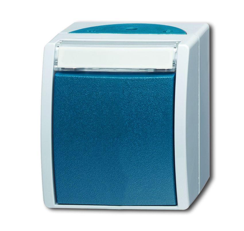 busch jaeger 2601 6 w 53 wippschalter aus und wechselschaltung grau blaugr n online kaufen im. Black Bedroom Furniture Sets. Home Design Ideas