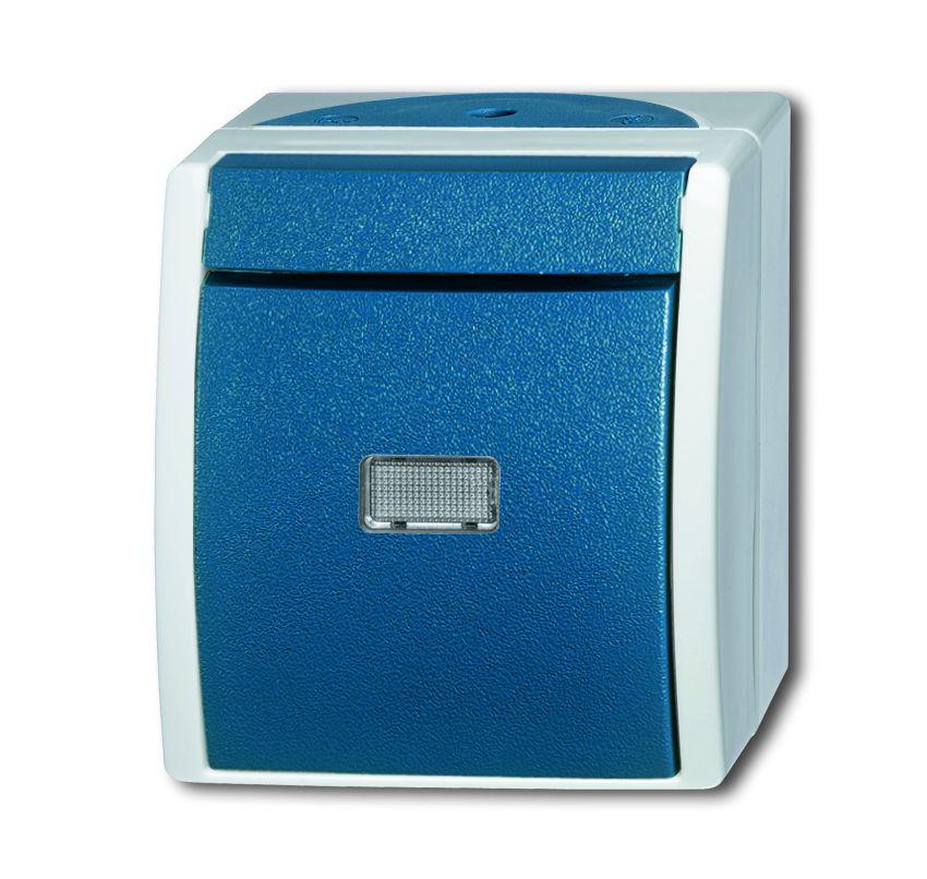 busch jaeger 2621 wgl 53 wipptaster schlie er mit beleuchtung grau blaugr n online kaufen im. Black Bedroom Furniture Sets. Home Design Ideas