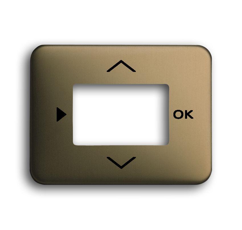 busch jaeger 6435 21 abdeckung timer temperaturregler raumluftsensor bronze online kaufen im. Black Bedroom Furniture Sets. Home Design Ideas