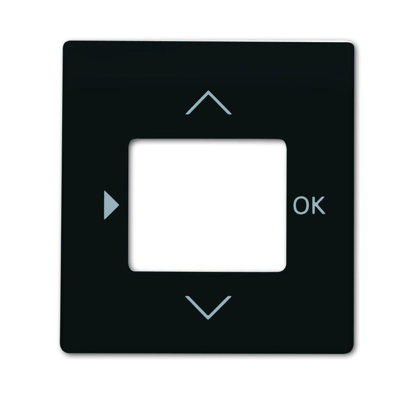 busch jaeger 6435 775 impuls abdeckung timer temperaturregler raumluftsensor schwarz matt. Black Bedroom Furniture Sets. Home Design Ideas