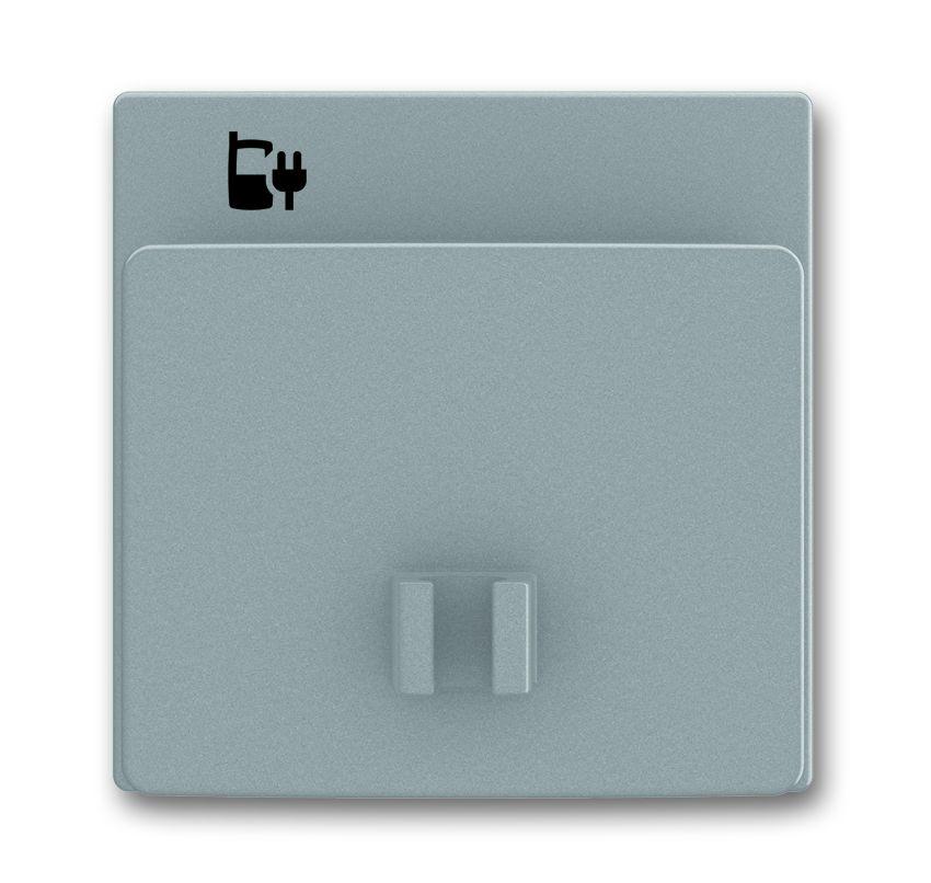 busch jaeger 6478 803 abdeckung f r usb ladestation einsatz grau metalic online kaufen im voltus. Black Bedroom Furniture Sets. Home Design Ideas