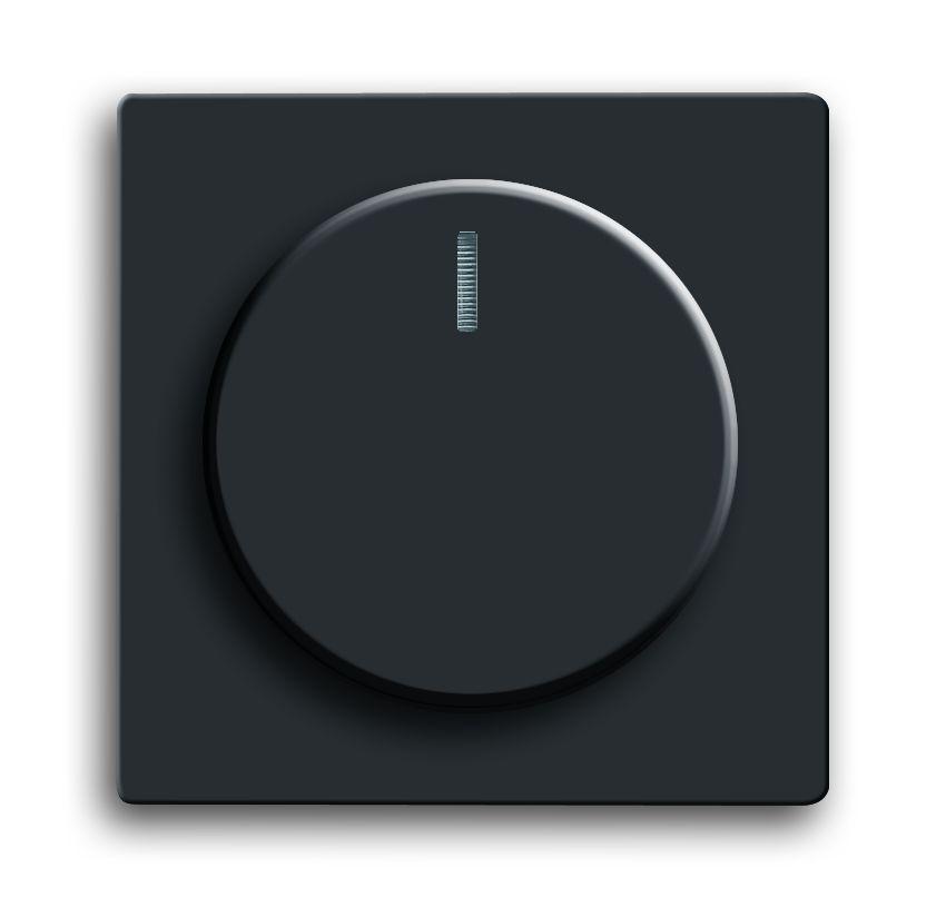 busch jaeger 6540 885 102 drehdimmer abdeckung schwarz matt online kaufen im voltus elektro shop. Black Bedroom Furniture Sets. Home Design Ideas