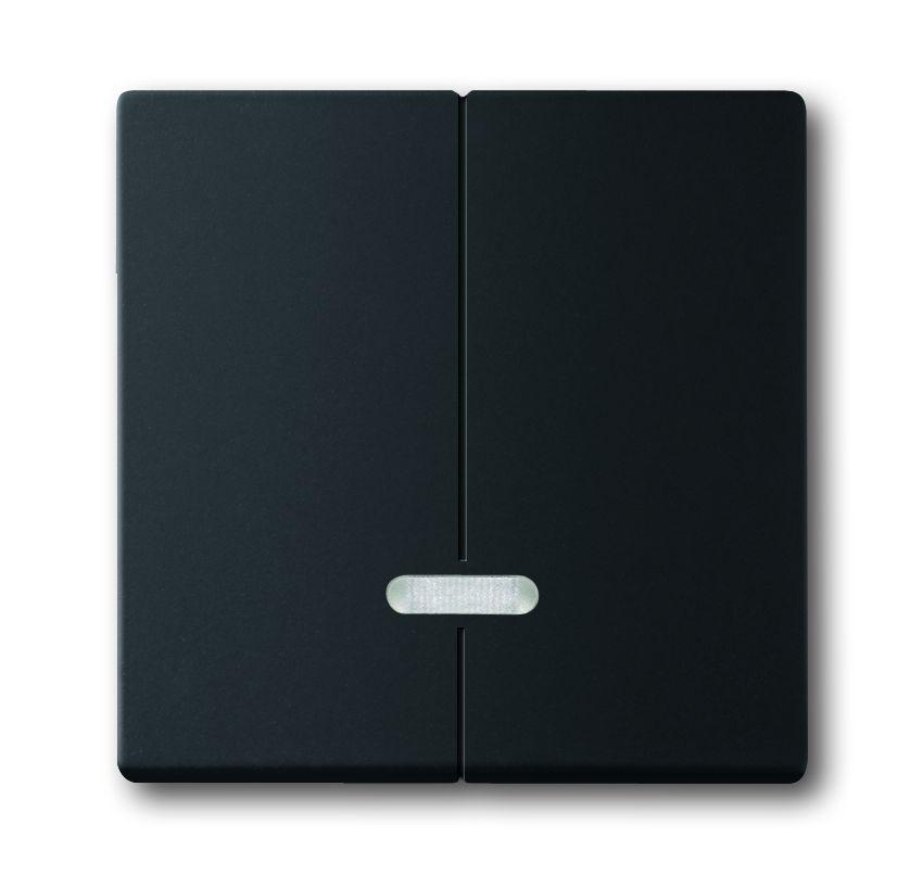 busch jaeger 6545 885 seriendimmer abdeckung schwarz matt online kaufen im voltus elektro shop. Black Bedroom Furniture Sets. Home Design Ideas