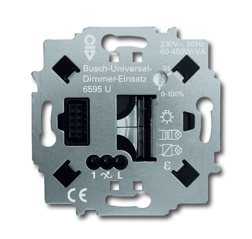 busch jaeger 6595u universal dimmer einsatz online kaufen im voltus elektro shop. Black Bedroom Furniture Sets. Home Design Ideas