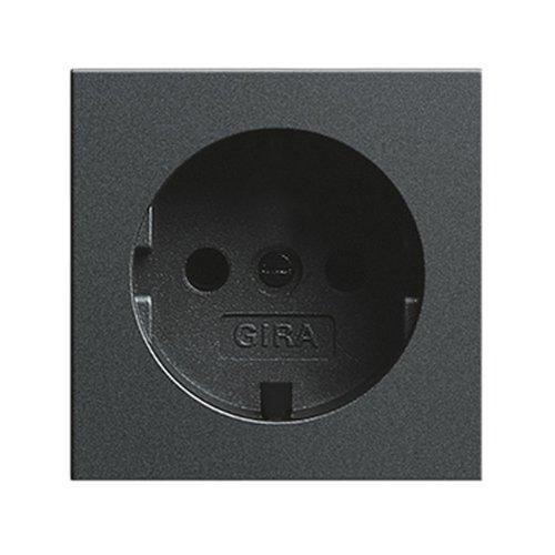 gira 092028 zentralplatte zu steckdose 018828 anthrazit. Black Bedroom Furniture Sets. Home Design Ideas