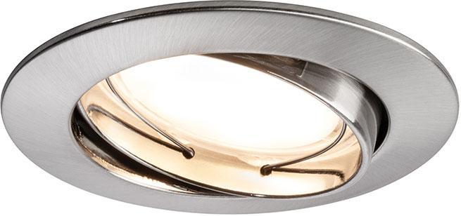 paulmann led einbauleuchten set premium coin 1x7 w rund dimmbar eisen geb rstet online. Black Bedroom Furniture Sets. Home Design Ideas