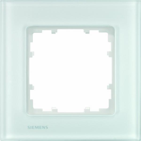 siemens 5tg1201 1 abdeckrahmen echtmaterial glas wei 1 fach online kaufen im voltus elektro shop. Black Bedroom Furniture Sets. Home Design Ideas