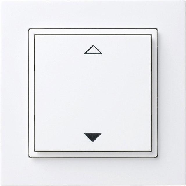 thermokon 364591 funkschalter 4 kanal jalousie inkl rahmen gira e2 reinwei gl nzend online. Black Bedroom Furniture Sets. Home Design Ideas