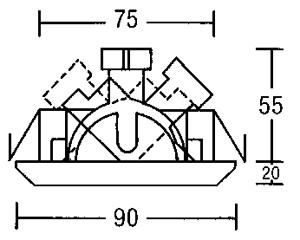 brumberg nv einbaustrahler gx5 3 35w online kaufen im voltus elektro shop. Black Bedroom Furniture Sets. Home Design Ideas