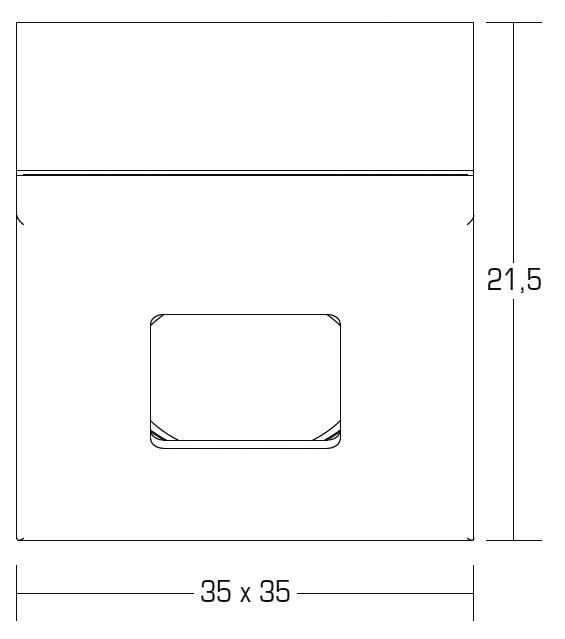 brumberg p3648ww led deckenein anbau minispot quadratisch warmwei 3100k online kaufen im. Black Bedroom Furniture Sets. Home Design Ideas