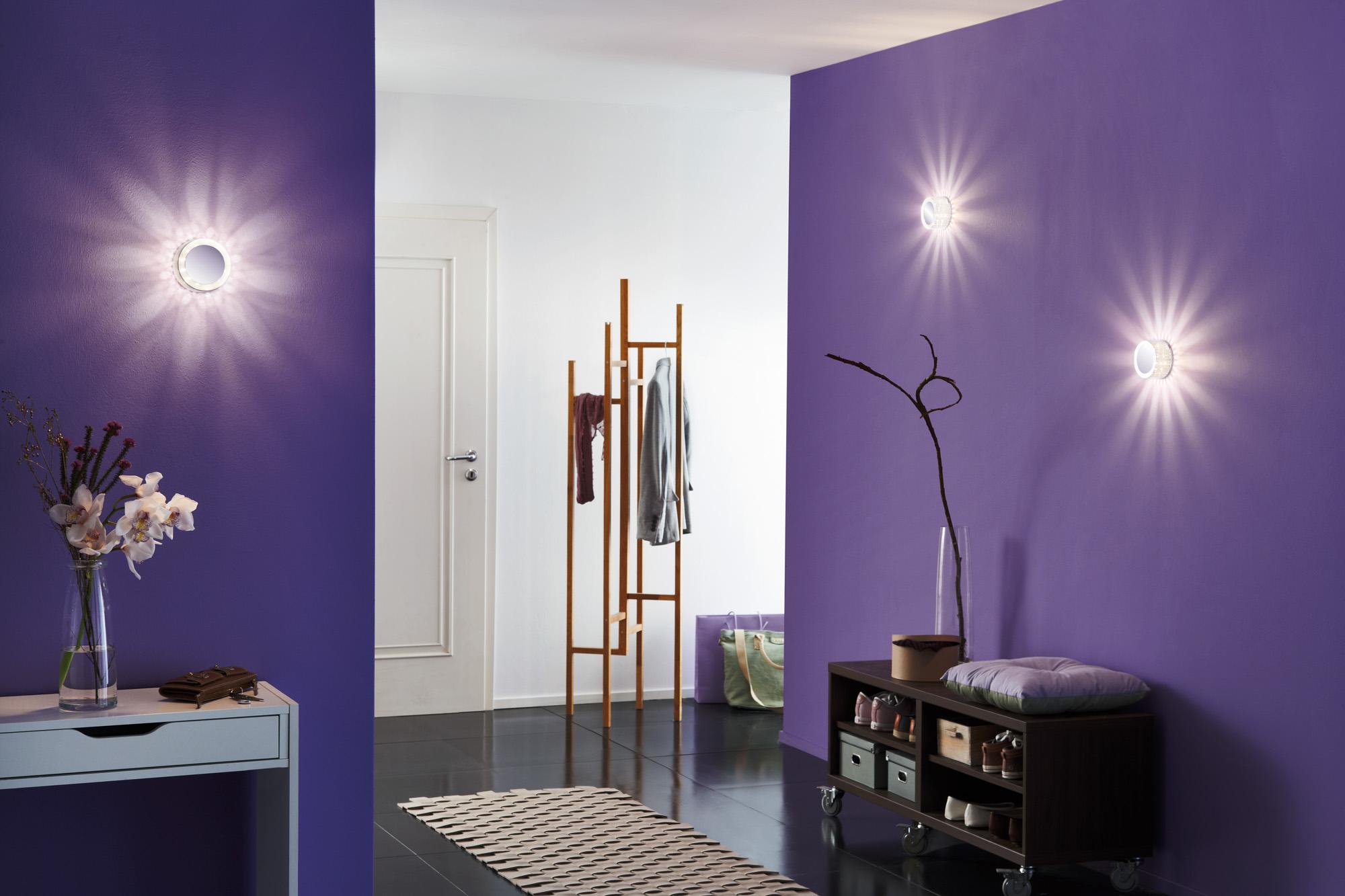 paulmann wandleuchte decobeam led chrom matt metall acryl 230 v 1 x 2 5 w online. Black Bedroom Furniture Sets. Home Design Ideas
