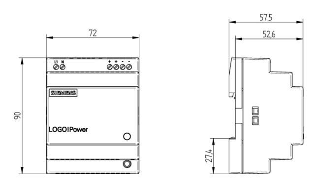 siemens 6ep13321sh43 logo power 24 v25 a geregelte