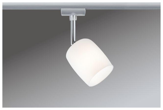 paulmann urail system spot blossom 230v g9 chrom matt satinglas online kaufen. Black Bedroom Furniture Sets. Home Design Ideas