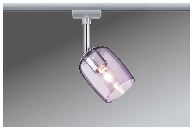 paulmann urail system spot blossom 230v g9 chrom matt lila transparent online. Black Bedroom Furniture Sets. Home Design Ideas