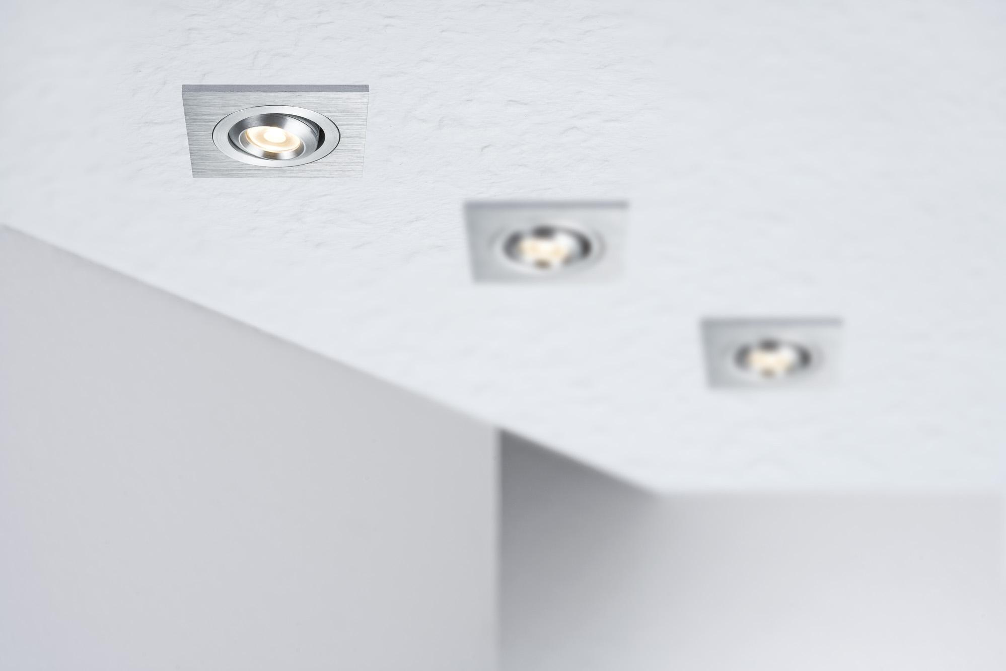 paulmann einbauleuchten set premium line 3w led schwenkbar eckig 3x 1x3 w online. Black Bedroom Furniture Sets. Home Design Ideas